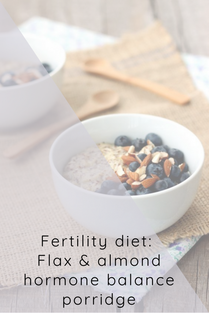 Fertility diet flax and almond porridge